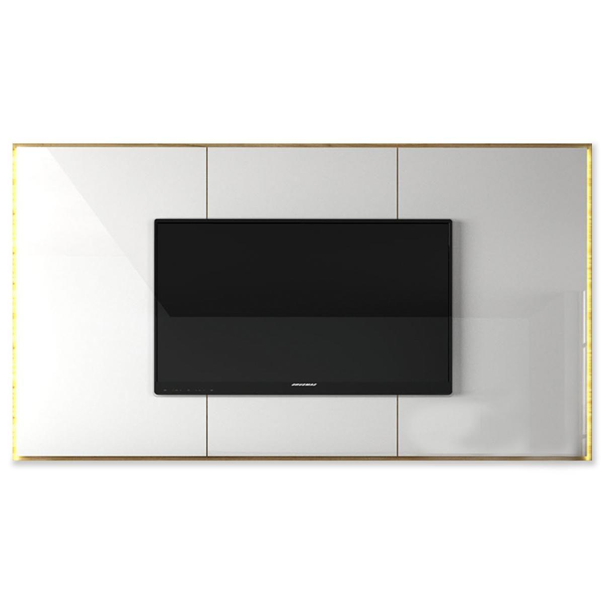 Painel California 2000mm - Cinamomo/Branco Brilho - KNR Decor