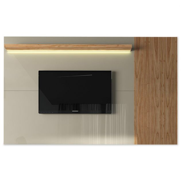 Painel Londres 2400mm - Off White/Cinamomo - KNR Decor