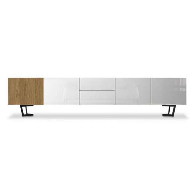Rack Viena 2000mm - Off White / Cinamomo